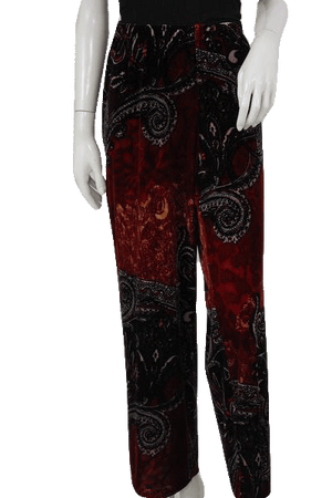 Sunny Leigh 90's Printed Velour Pants Size XL SKU 000092