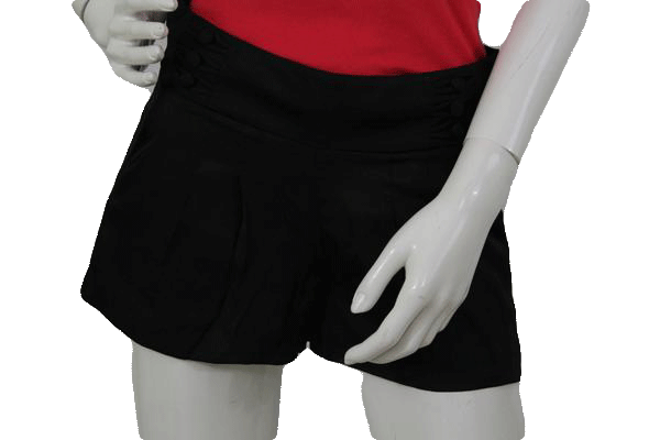 BEBE Black Short Satin Shorts Size 2  SKU 000070