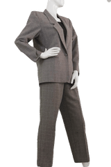 Tahari Black and White Two Piece Suit Set Size 10 (SKU 000111)