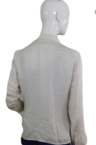 Calvin Klein Off White Blouse with Cargo Details Size 6 (SKU 000041)