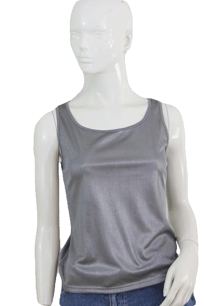 Nygard Silver Metallic Sleeveless Pullover Top Size Small (SKU 000101)