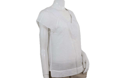 Banana Republic White Embroidered Top Size Medium (SKU 000095)