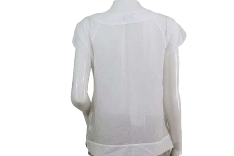 Banana Republic White Embroidered Top Size Medium (SKU 000095) 27fad32e3