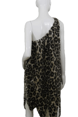 Animal Print One Shoulder Dress Size Extra Large (SKU 000105)