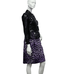 Alligator Pattern Patent Leather Jacket Size PP (SKU 000039)