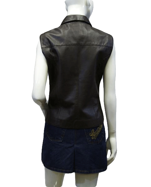 Saguaro West Womens Vest Brown Leather Size S SKU 000038
