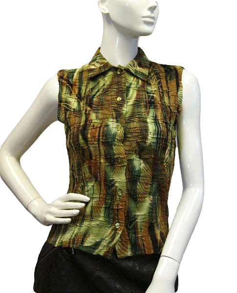 Alberto Makali Palm Beach Sleeveless Top Size S SKU 000027
