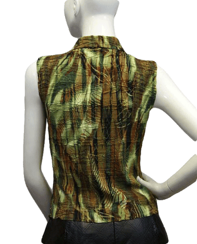 Alberto Makali Palm Beach Sleeveless Top Size S (SKU 000027)