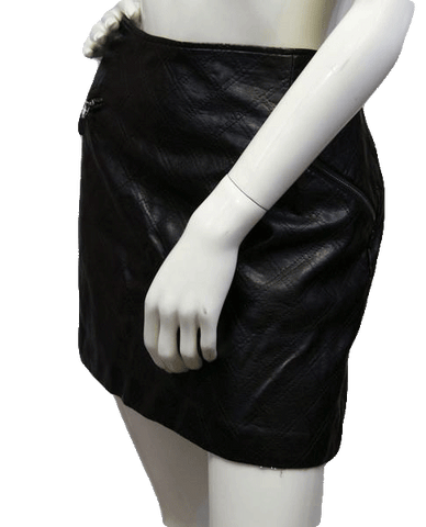 Love Like Vegan Leather Skirt Size 14 (SKU 000038)