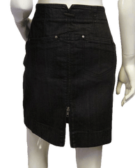 MISSING DKNY SKIRT Double Take Zip Jean Skirt Size 8 (SKU 000009)