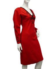 Head Turner Red Knit Dress Size M (SKU 000089)