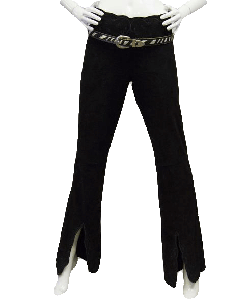 Rodeo Ready Black Suede Outfit - Sexy Stunner Sz 4 SKU 000084