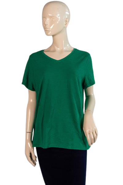 JMS By Hanes Ladies Top Green 16W SKU 000294-17