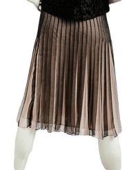 New York City Design Co. 80's Skirt Silk Pleated Sz 6 SKU 000019