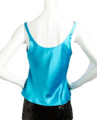 Caribbean Vibes Blue Tank Top Size Small (SKU 000025)