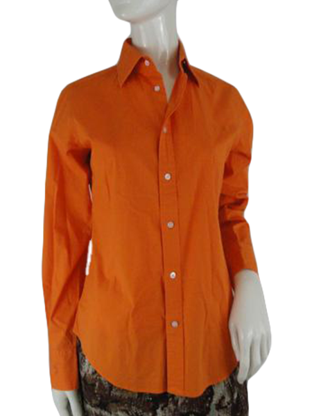 Ralph Lauren Shirt Orange Size 10 (SKU 000198-6)