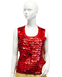 One 7 Six Tank Top Red Vegan Leather Size XL SKU 000039
