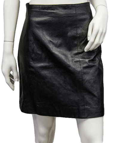 Wilsons Vegan Leather Skirt Size 10 (SKU 000038)