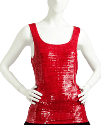 Siren Red Sequin Top Size M (SKU 000087)