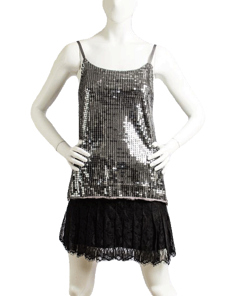 Own the Night Sequin Top Sz M (SKU 000010)