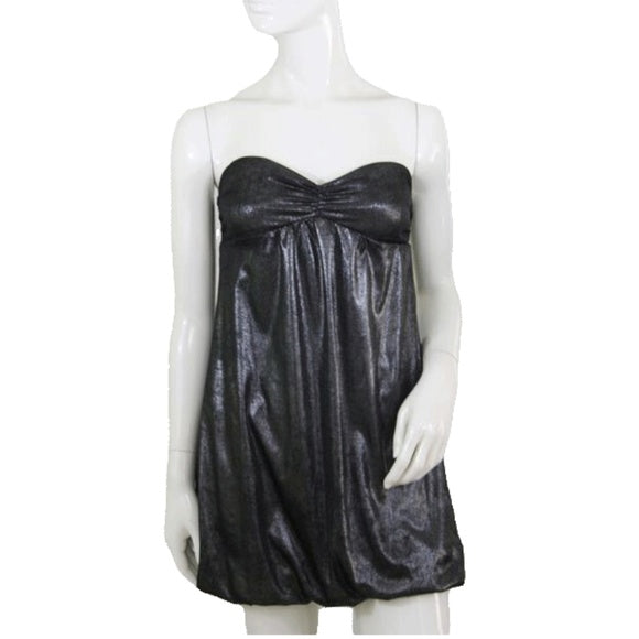 Guess Jeans Metallic Black Strapless Dress Size Small (SKU 000167)