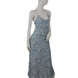 J Crew Dress Blue Floral Size 10 SKU 000097