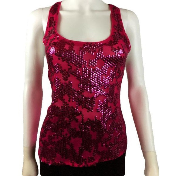 Pink Cluster Racerback Top Size Medium (SKU 000010)
