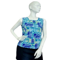 Shades of Blue Tank Top Size Large (SKU 000025)