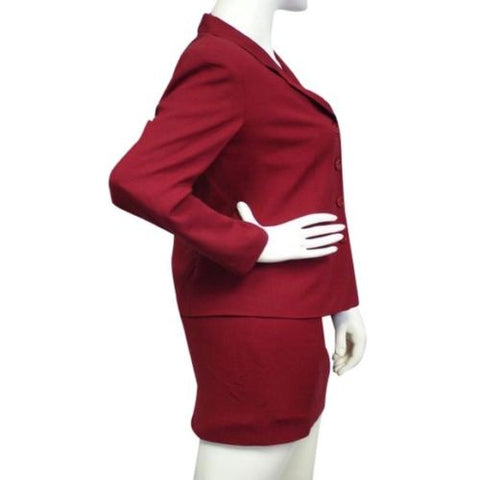 Talbots Red Haze Power Suit Size 4 (SKU 000082)