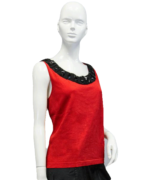 Ruby Cut Diamond Embroidered Top Size L (SKU 000089)