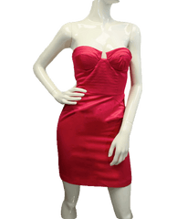 Attracted To You Hot Pink Halter Dress Size Small (SKU 000061)