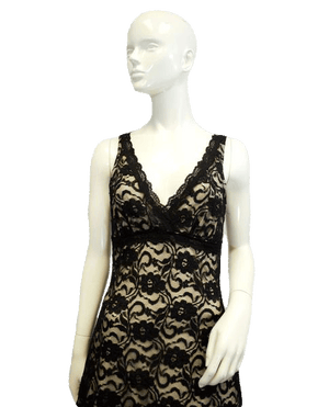 Little Black Dress Lace Overlay Size Medium (SKU 000077)