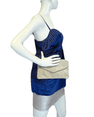 Navy Blue Baby Doll Style Party Top Size 10 (SKU 000025)