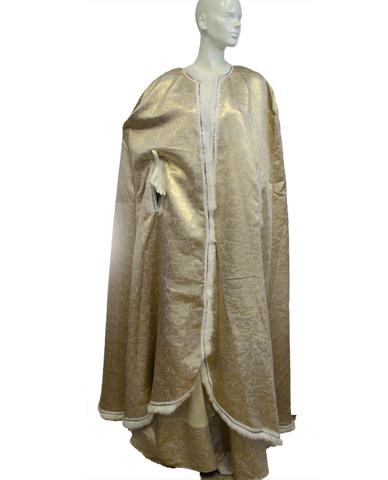Mardi Gras Gold Dress and Cape Size Small (SKU 000077)