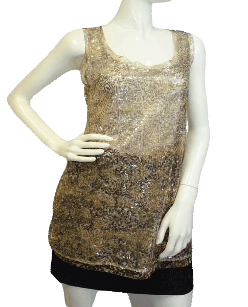 Motherhood Maternity Top Gold Sequins Size Small SKU 000025