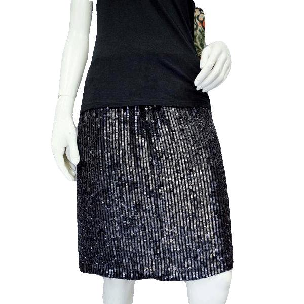 INC Little Black Skirt Beaded Size 8 NWT SKU 000028