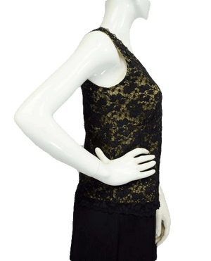 Kathleen Kirkwood 80's Black Lace Top Size Small SKU 000025