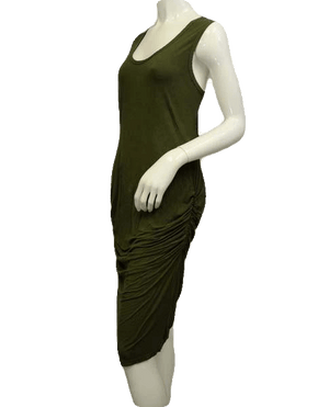 Sleeveless Avocado Green Bodycon Dress Size XL(SKU 000066)
