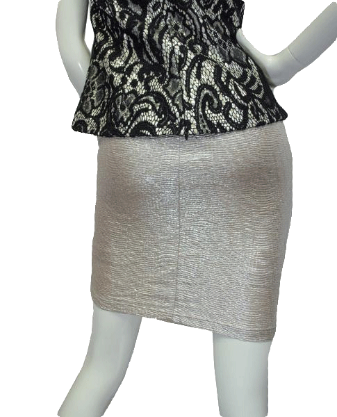 Decree Skirt 80's Silver Size Medium SKU 000054