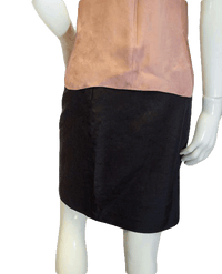 NO SKU Little Black Pencil Linen Skirt Size 10