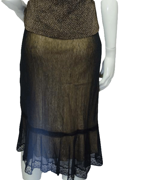 Max Studio See Through Transparent Vindicated Skirt Size XS (SKU 000133)