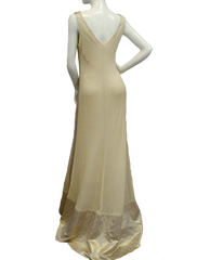 Mardi Gras Gold Dress and Cape Size Small (SKU 000077) - Designers On A Dime - 6