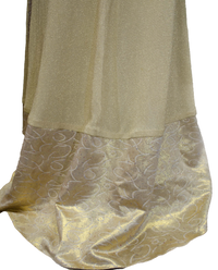 Mardi Gras Gold Dress and Cape Size Small (SKU 000077) - Designers On A Dime - 7