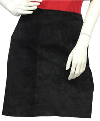 Hillary Paige Black Suede Skirt Size Large (SKU 000039)