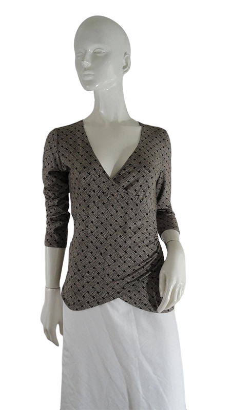 Ann Taylor Loft Top Brown Size S (SKU 000246-5)