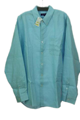 MEN Alan Flusser Long Sleeve Blue Button Down Shirt XL   (SKU 000158)