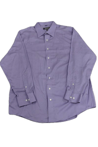 MENS Kenneth Cole Reaction Long Sleeve Lavender 100% Cotton Dress Shirt Size XL SKU 000160