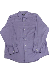 MENS Kenneth Cole Reaction Long Sleeve Lavender 100% Cotton Dress Shirt Size XL (SKU 000160)