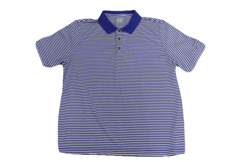 MENS Izod Blue and White Stripe Short Sleeve Shirt Size XXL (SKU 000160)