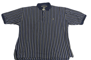 MENS Tommy Hilfiger Blue and White Stripe Short Sleeve Shirt Size XL SKU 000160